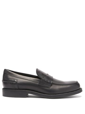 Tod's - Leather Penny Loafers - Mens - Black
