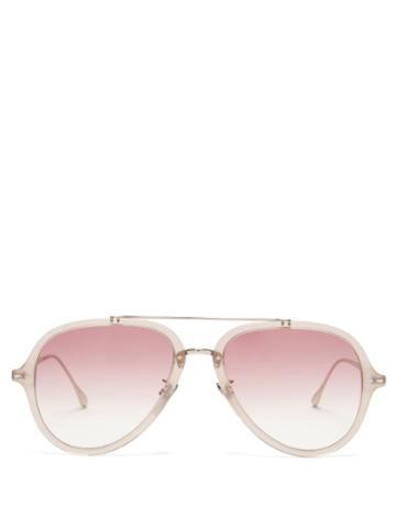 Matchesfashion.com Isabel Marant Eyewear - Windsor Aviator Acetate Sunglasses - Womens - Nude