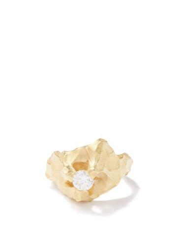 Elhanati - Mountain Diamond & 18kt Gold Ring - Womens - Yellow Gold