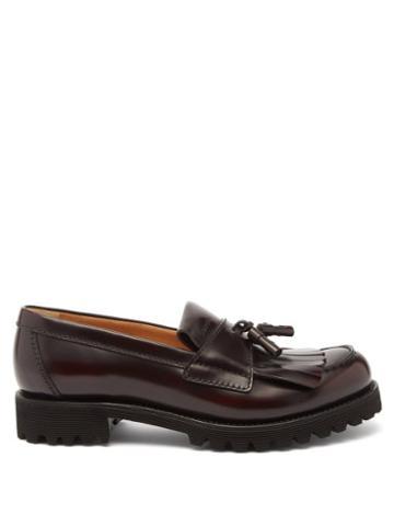 Church's - Oreham Tasselled Leather Loafers - Womens - Burgundy
