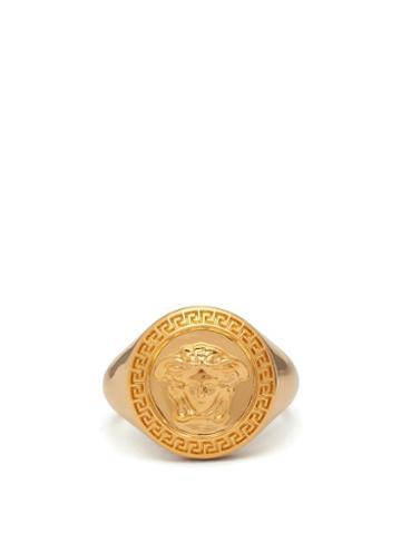 Matchesfashion.com Versace - Medusa Medallion Metal Ring - Mens - Gold