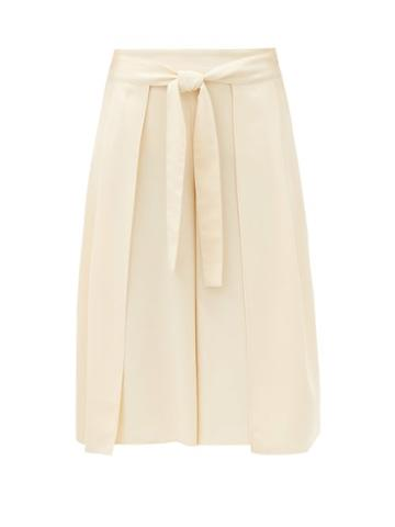 Matchesfashion.com See By Chlo - High-rise Belted Crepe Culottes - Womens - Cream