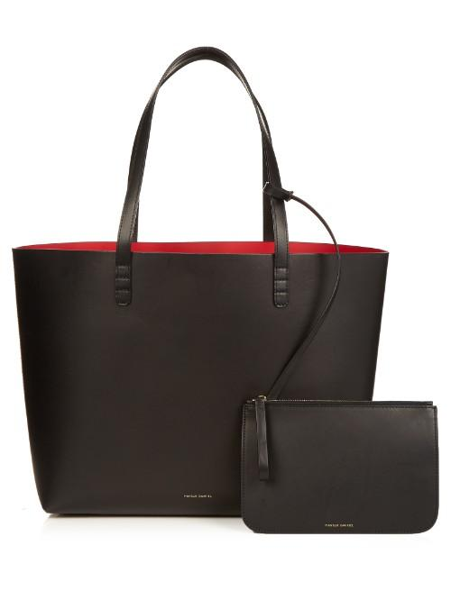 Mansur Gavriel Red-lined Large Leather Tote