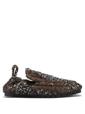 Matchesfashion.com Bottega Veneta - Plank Boucl Loafers - Mens - Brown