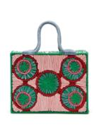 Matchesfashion.com Sophie Anderson - Caba Woven Raffia Bag - Womens - Blue Multi