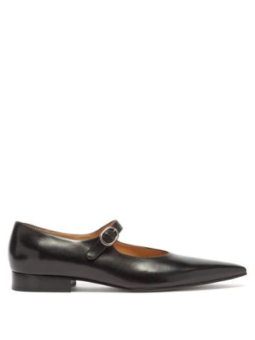 Matchesfashion.com Maison Margiela - Hyperion Faux-leather Mary Jane Flats - Mens - Black