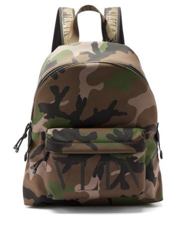 Matchesfashion.com Valentino Garavani - Camouflage-jacquard Nylon Backpack - Mens - Multi
