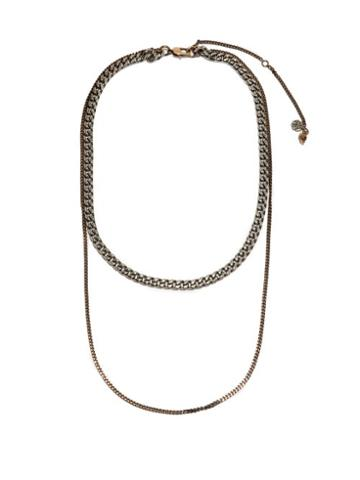 Alexander Mcqueen - Chain-link Two-tone Metal Necklace - Mens - Silver Gold