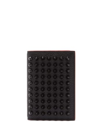 Matchesfashion.com Christian Louboutin - Sifnos Bi-fold Grained-leather Cardholder - Womens - Black