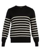 Ami Striped Wool-knit Sweater
