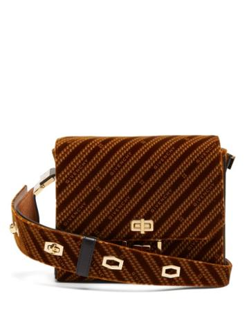 Matchesfashion.com Givenchy - Eden Medium Monogram Velvet Messenger Bag - Womens - Brown