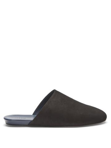 Matchesfashion.com Inabo - Slider Suede And Leather Slippers - Mens - Black