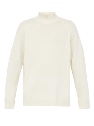 Matchesfashion.com Raey - Sloppy Funnel Neck Cashmere Sweater - Mens - Ivory