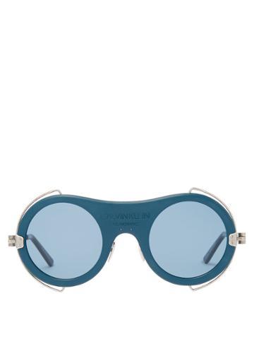 Calvin Klein 205w39nyc Round-frame Acetate Sunglasses