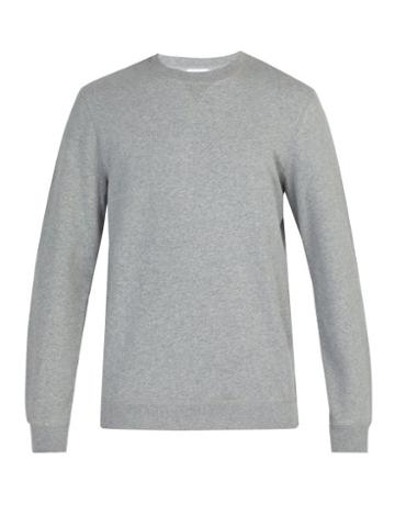 Matchesfashion.com Sunspel - Crew Neck Cotton Sweatshirt - Mens - Grey