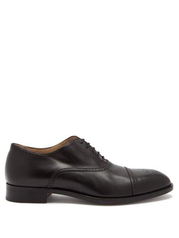 Matchesfashion.com Paul Smith - Sonnet Brogued-leather Oxford Shoes - Mens - Black