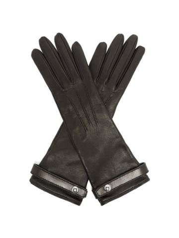 Matchesfashion.com Burberry - Leather Gloves - Womens - Black