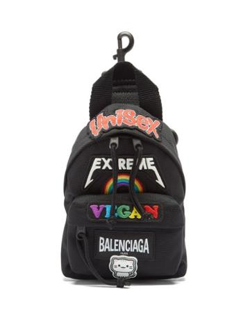 Matchesfashion.com Balenciaga - Oversized Xs Recycled-nylon Backpack - Mens - Black