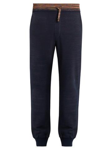 Missoni Drawstring Cotton-jersey Track Pants