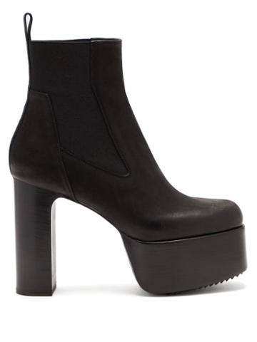 Matchesfashion.com Rick Owens - Kiss Grained-leather Platform Chelsea Boots - Womens - Black