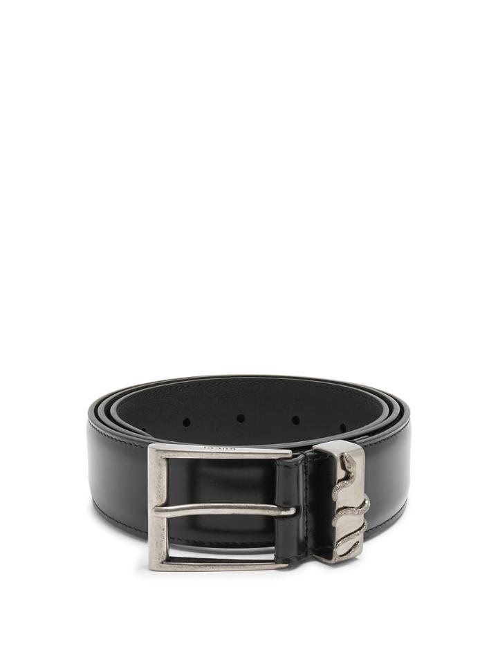 Gucci Snake-embossed Leather Belt