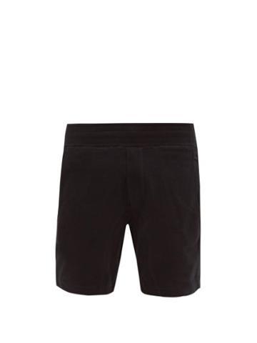 Matchesfashion.com Frescobol Carioca - Leblon Organic Cotton Jersey Shorts - Mens - Black