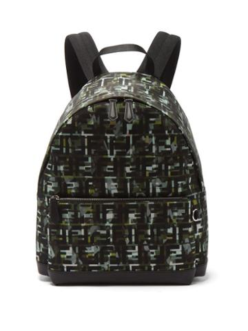 Matchesfashion.com Fendi - Ff And Camouflage-print Backpack - Mens - Green Multi