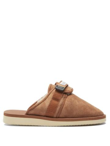Matchesfashion.com Suicoke - Zavo-mab Suede Mules - Mens - Brown