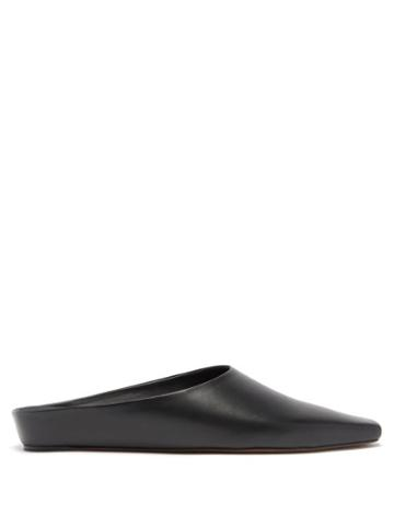 Ladies Shoes Neous - Alba Point-toe Leather Mules - Womens - Black