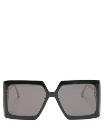 Matchesfashion.com Dior - Diorsolar Square Acetate Sunglasses - Womens - Black