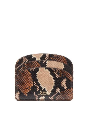 Matchesfashion.com A.p.c. - Half Moon Python-effect Leather Cardholder - Womens - Python