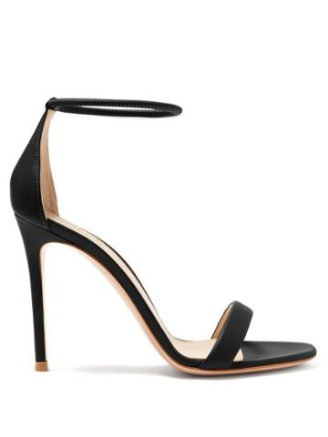 Matchesfashion.com Gianvito Rossi - Simple Strap 105 Leather Sandals - Womens - Black