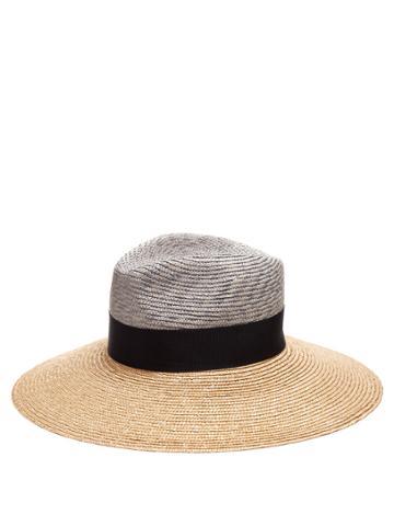 Federica Moretti Wide-brimmed Straw Hat