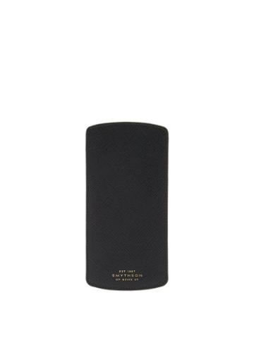 Matchesfashion.com Smythson - Panama Leather Glasses Pouch - Mens - Black
