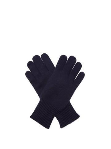 Mens Accessories Brunello Cucinelli - Suede-faced Cashmere Gloves - Mens - Blue