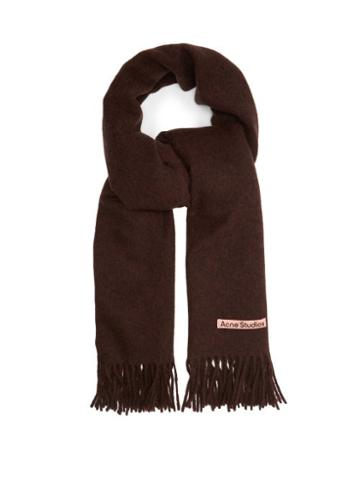 Matchesfashion.com Acne Studios - Canada Fringed Wool-blend Scarf - Mens - Brown