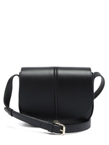 Matchesfashion.com A.p.c. - Betty Smooth-leather Cross-body Bag - Womens - Black