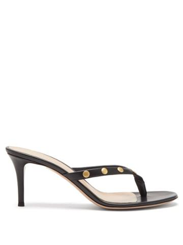 Matchesfashion.com Gianvito Rossi - Studded 70 Leather Sandals - Womens - Black Gold