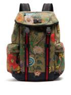 Gucci Floral Snake Print Backpack