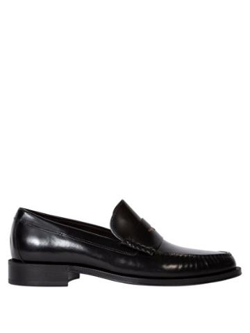 Matchesfashion.com Paul Smith - Lucky Signature-stripe Leather Penny Loafer - Mens - Black