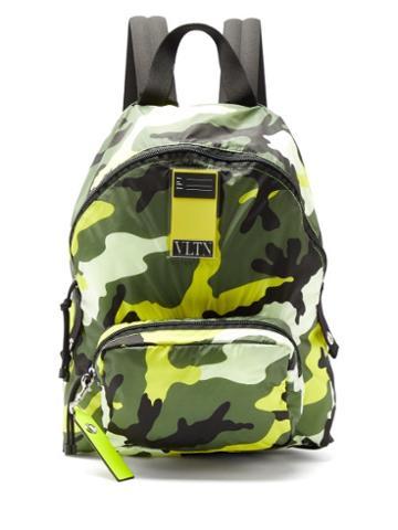 Matchesfashion.com Valentino Garavani - Camouflage-print Nylon Backpack - Mens - Multi