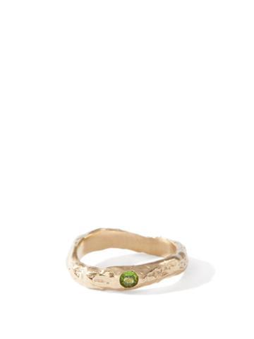Matchesfashion.com Anita Berisha - August Birthstone & 14kt Gold-plated Ring - Womens - Green