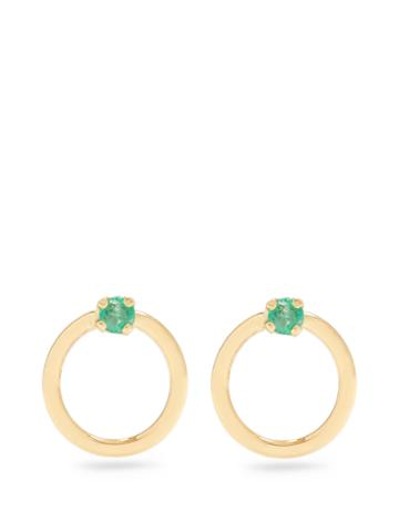 Loren Stewart Emerald & Yellow-gold Earrings