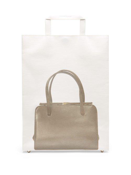 Matchesfashion.com Stefan Cooke - Bag Print Tote Bag - Womens - White Multi