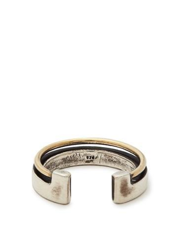 Matchesfashion.com Title Of Work - 18kt Gold And Silver Ring - Mens - Silver Gold