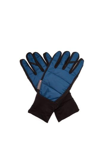 Matchesfashion.com Caf Du Cycliste - Wind-resistant Cycling Gloves - Mens - Blue