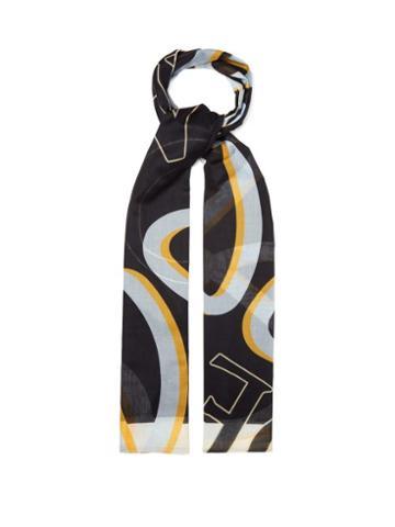 Matchesfashion.com Loewe - Logo Anagram Cotton Scarf - Womens - Black