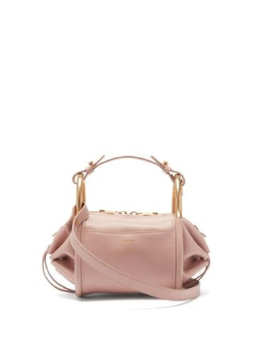 Matchesfashion.com Chlo - Hailey Mini Leather Shoulder Bowling Bag - Womens - Light Pink