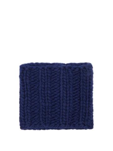 Jw Anderson - Ribbed-knit Wool Snood - Womens - Navy