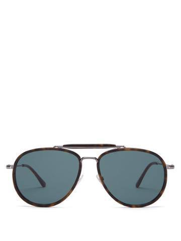 Matchesfashion.com Tom Ford Eyewear - Tripp Aviator Sunglasses - Mens - Tortoiseshell